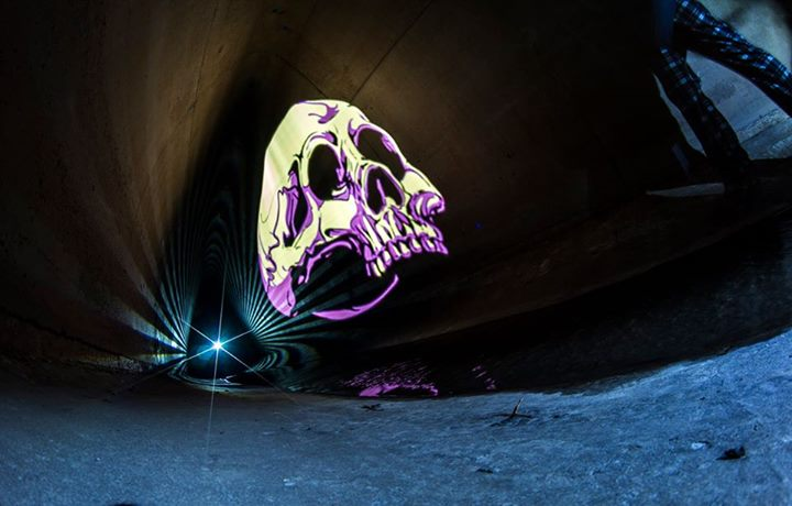 Dia de los Muertos skull from our Halloween Image Pack. Photo courtesy of Jason Bourneman.