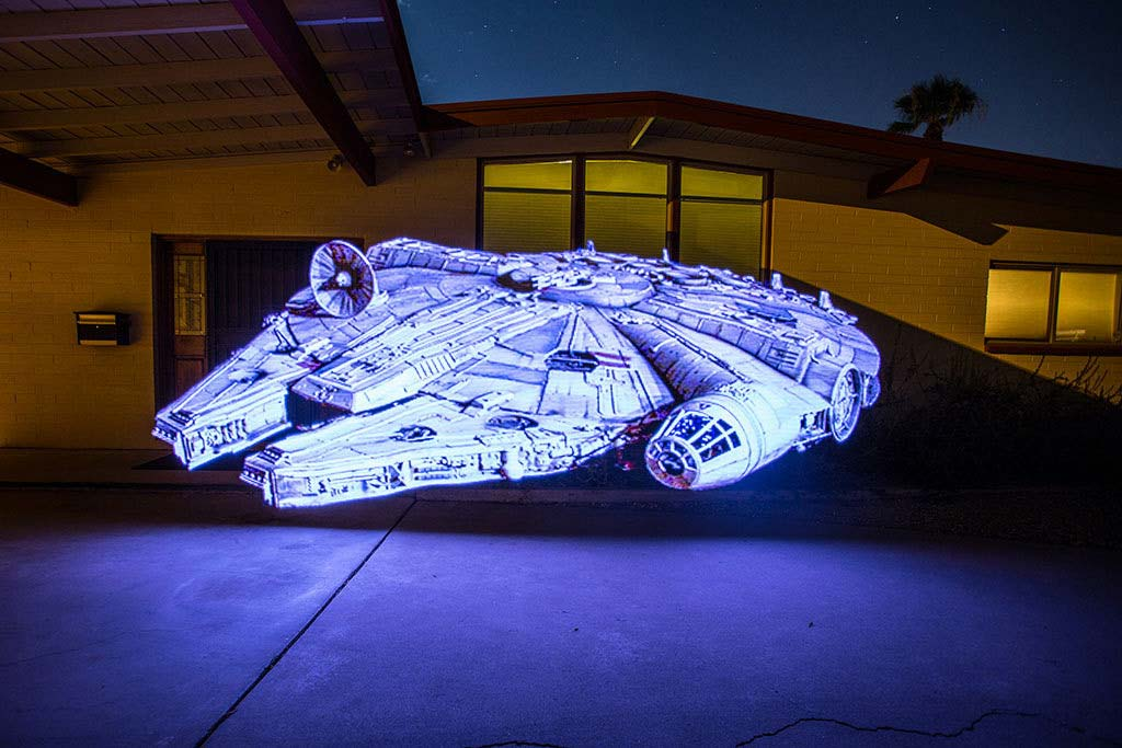 The Millenium Falcon, nice and sharp. Image courtesy of Paul McCarthy.